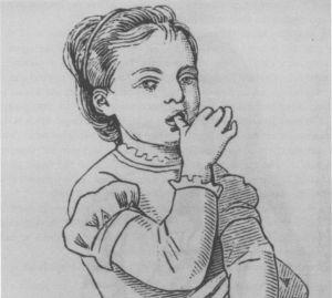 Sesanje palca je pogosta razvada