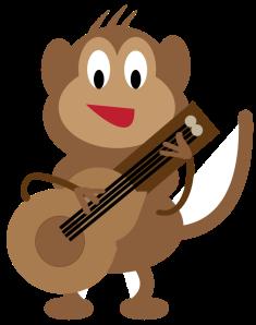 opica igra kitaro
